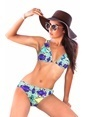 Miorre Desenli Üçgen Bikini Renkli